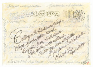 Kaleidoscope of Wings Butterfly Wreath Postcard Stamp